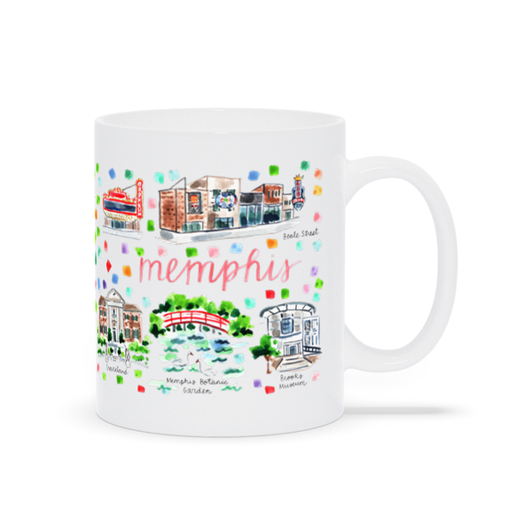 Memphis, TN Map Mug