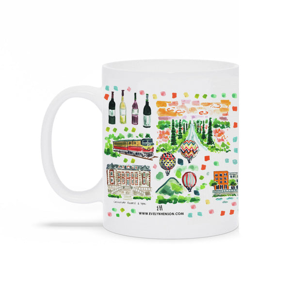 Napa Valley Map Mug