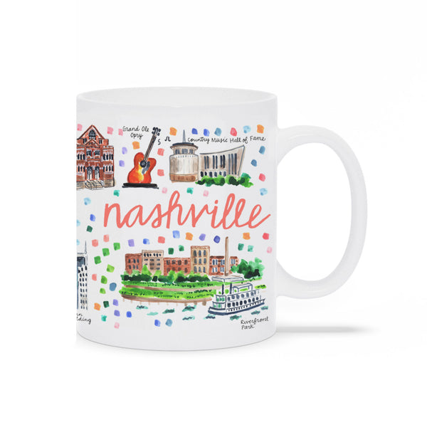 Nashville, TN Map Mug