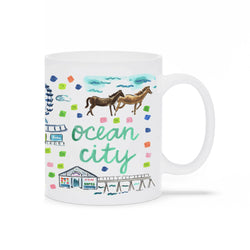 Ocean City, MD Map Mug