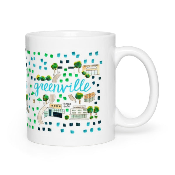 Greenville, SC Map Mug