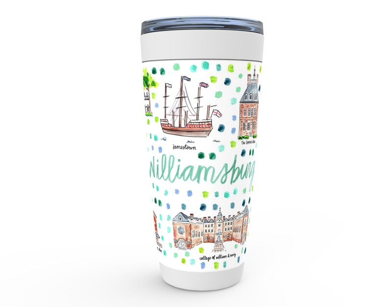 Williamsburg, VA Map Tumbler
