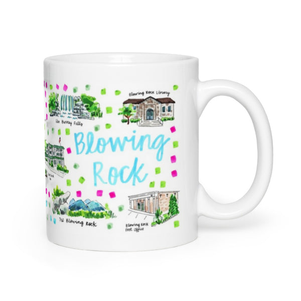 Blowing Rock Map Mug