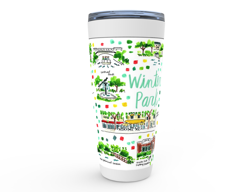 Winter Park, FL Map Tumbler