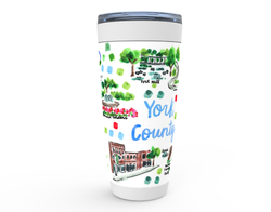 York County, SC Map Tumbler