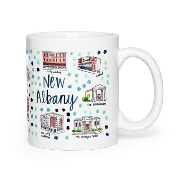 New Albany, IN Map Mug