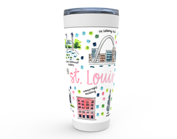 St. Louis,, MO Map Tumbler