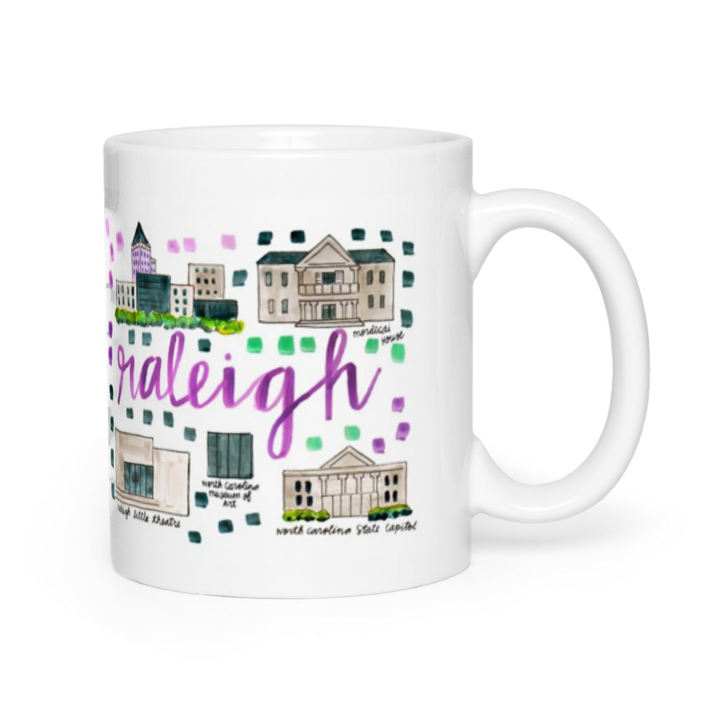 Raleigh, NC Map Mug