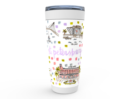 St. Petersburg, FL Map Tumbler
