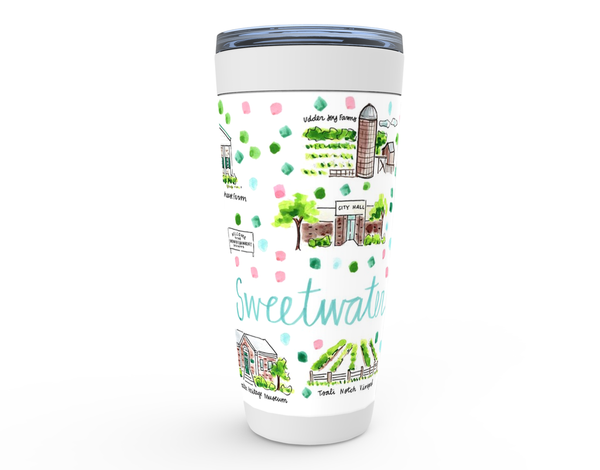 Sweetwater, TN Map Tumbler