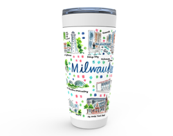 Milwaukee, WI Map Tumbler