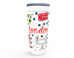 London, England Map Tumbler
