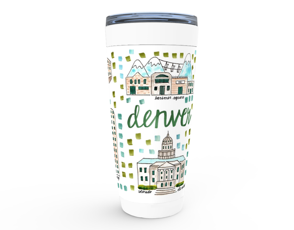 Denver, CO Map Tumbler