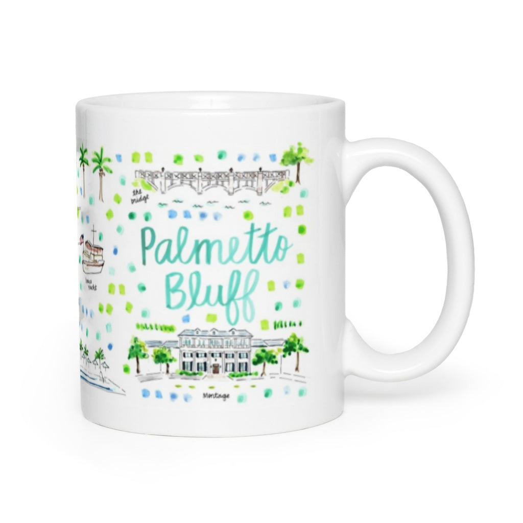 Palmetto Bluff, SC Map Mug