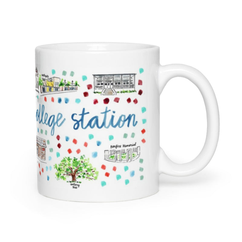 College Station, TX Map Mug