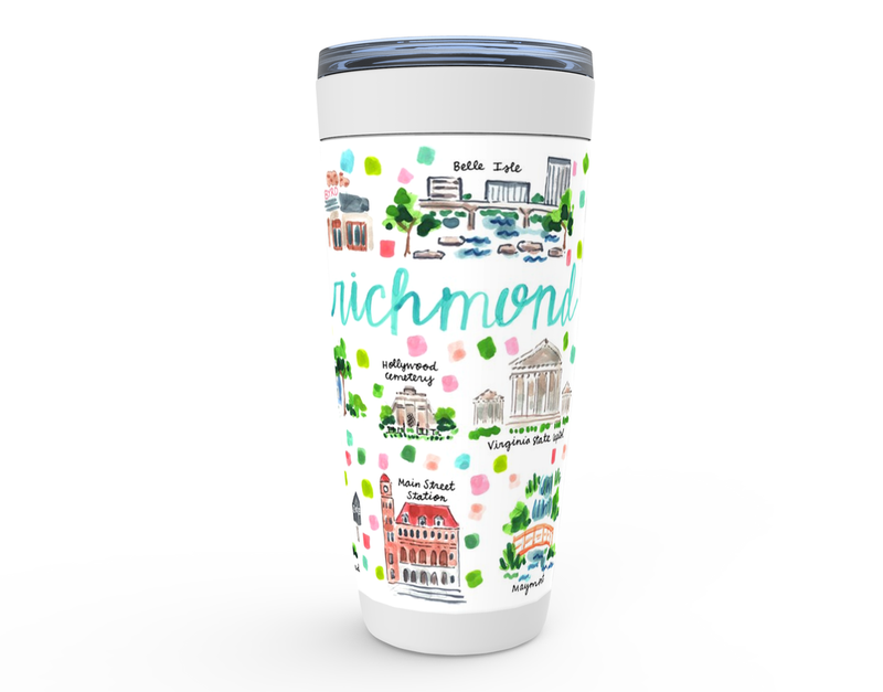 Richmond, VA Map Tumbler