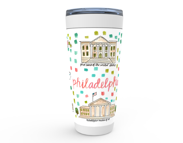 Philadelphia, PA Map Tumbler