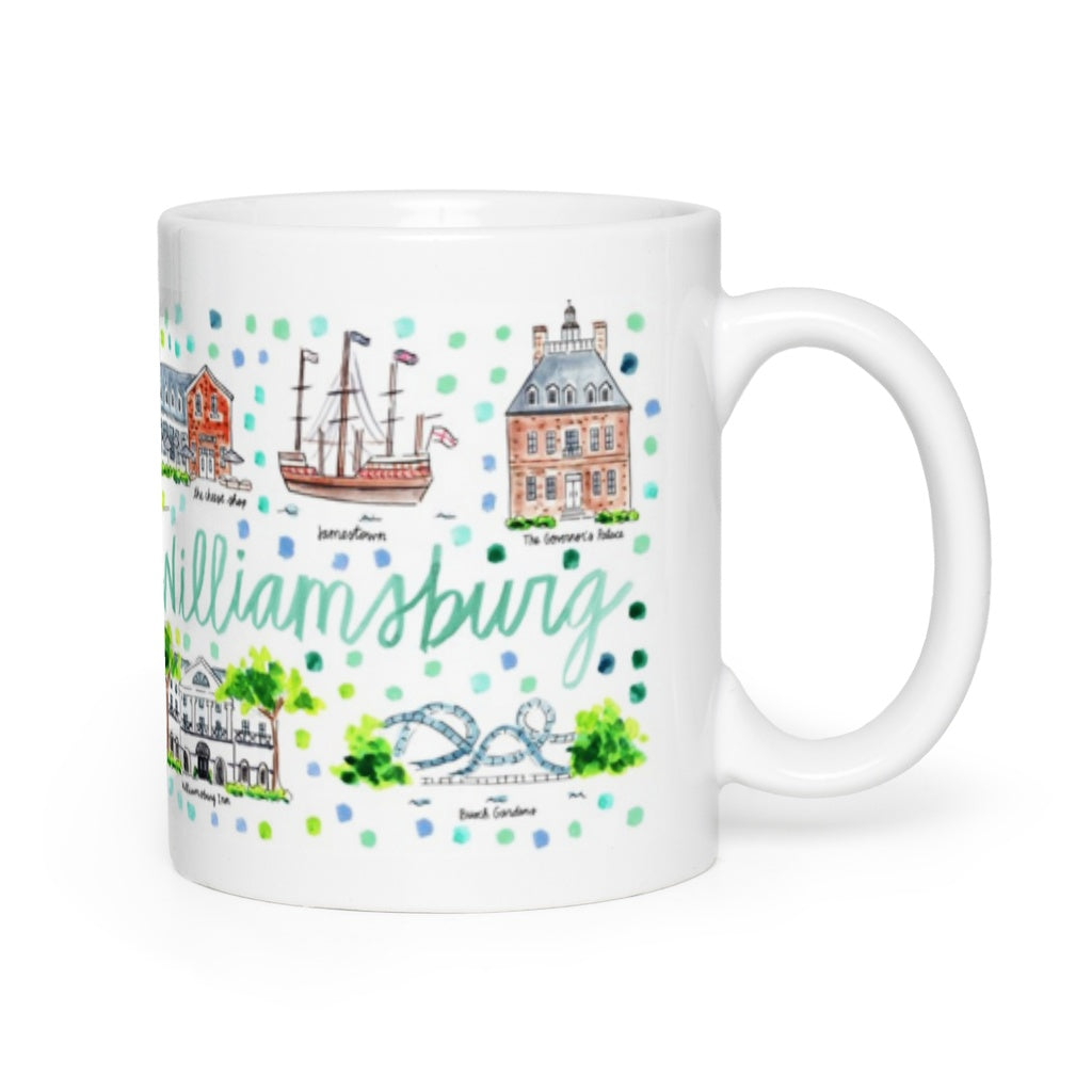 Williamsburg, VA Map Mug
