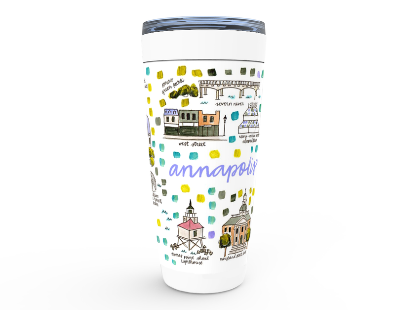 Annapolis, MD Map Tumbler