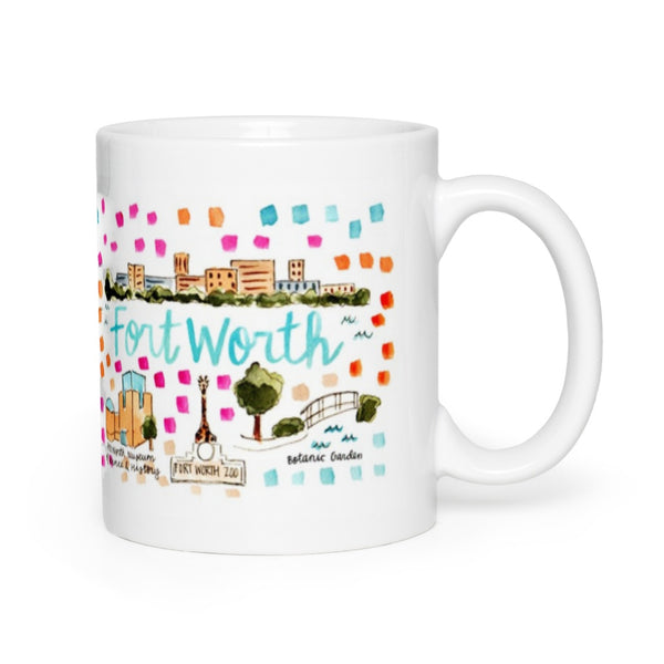 Fort Worth, TX Map Mug