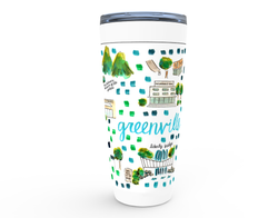 Greenville, SC  Map Tumbler