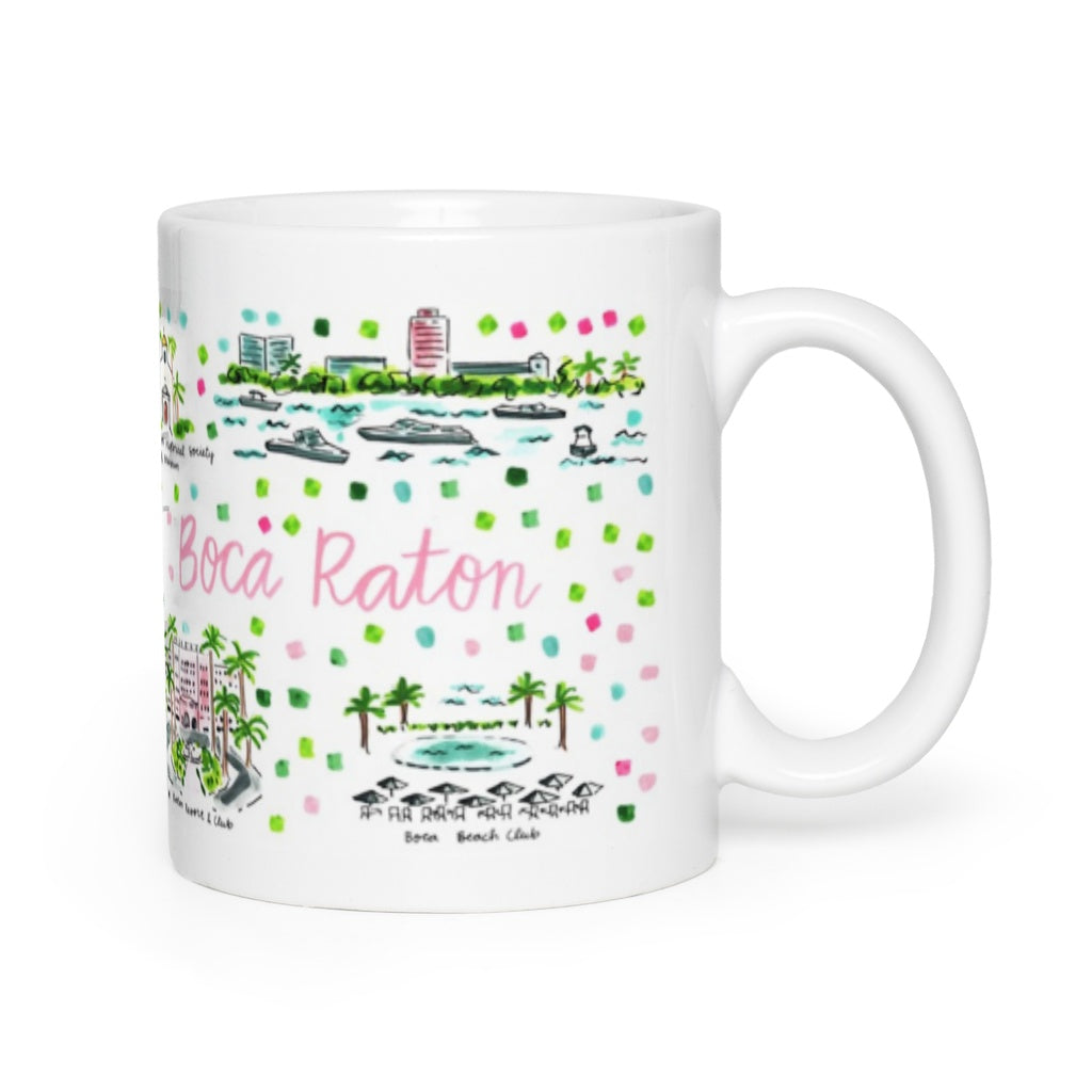 Boca Raton Fl Map Mug Evelyn Henson
