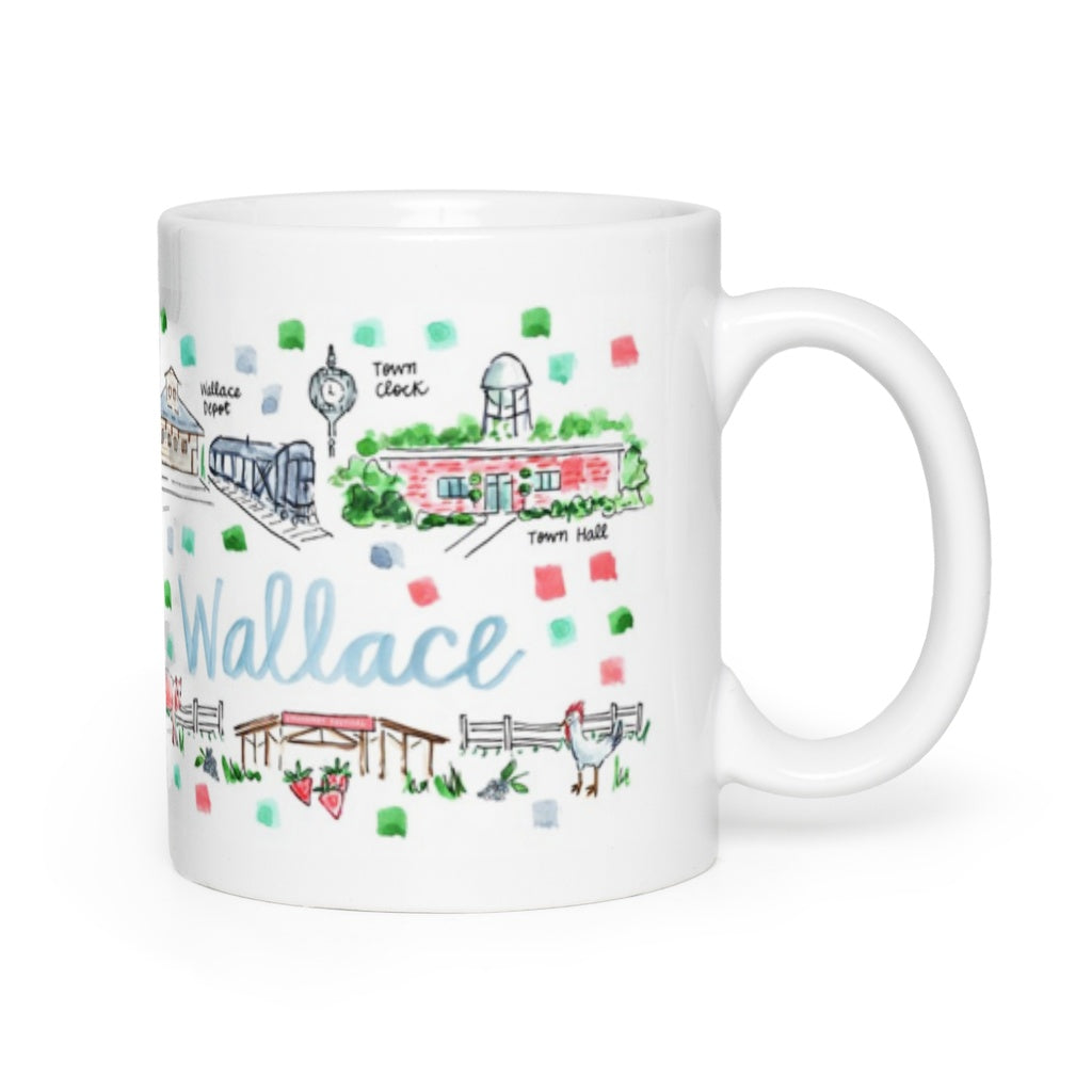 Wallace, NC Map Mug