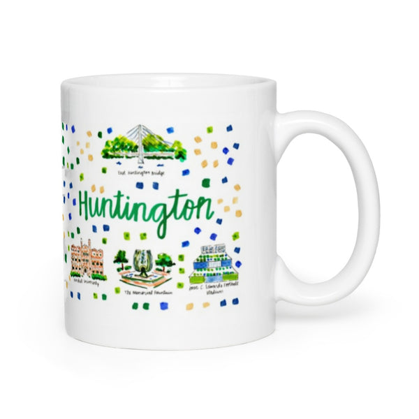 Huntington, WV Map Mug