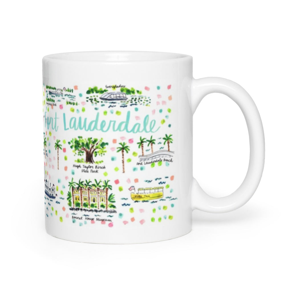 Fort Lauderdale, FL Map Mug
