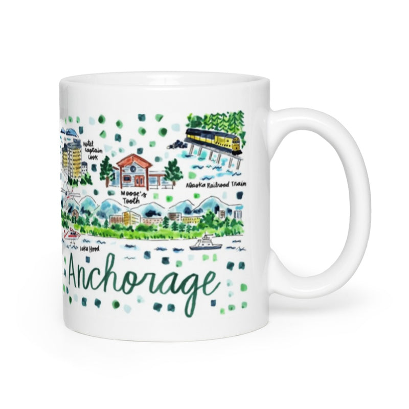 Anchorage, AK Map Mug