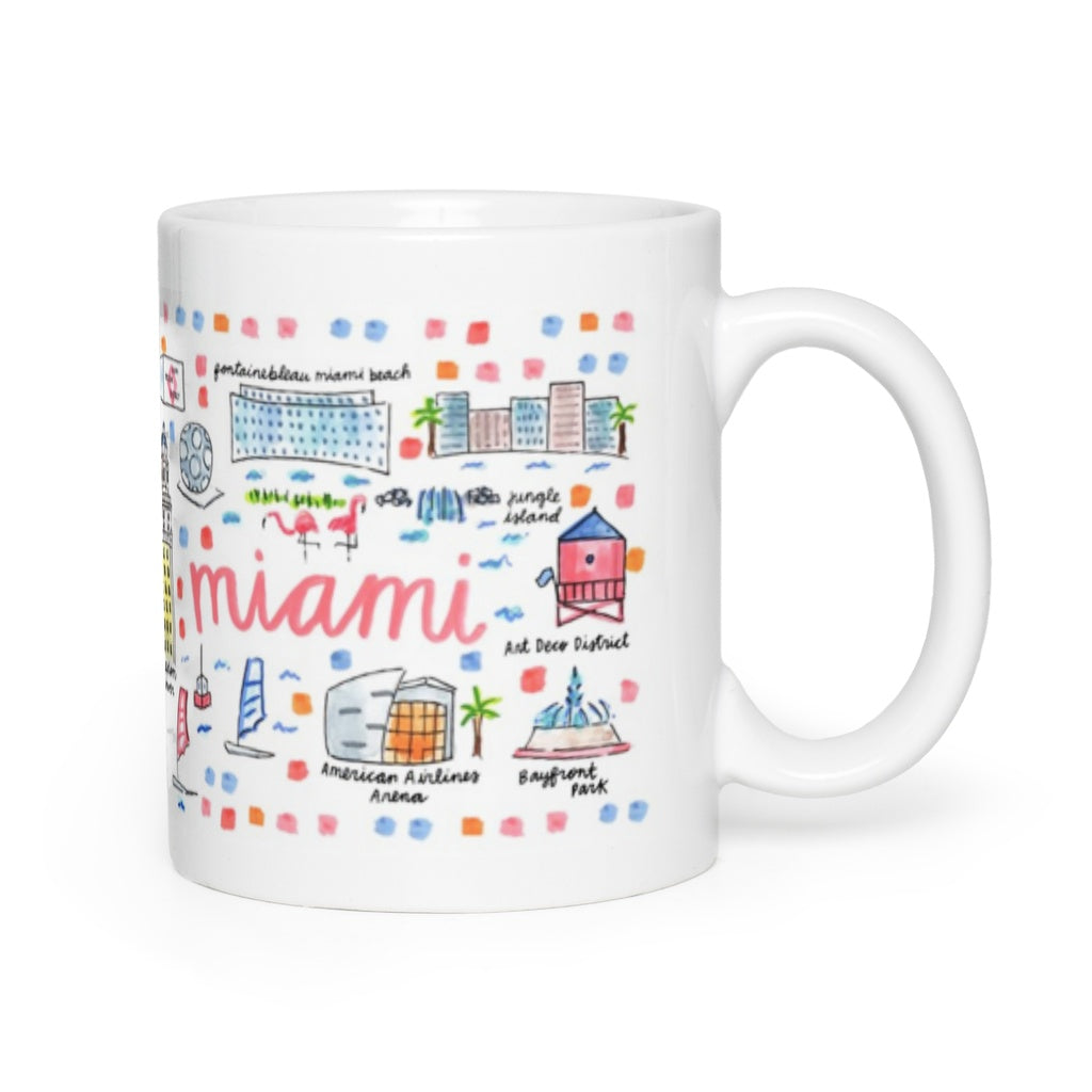 Miami, FL Map Mug