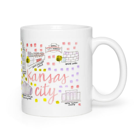 Kansas City, MO Map Mug