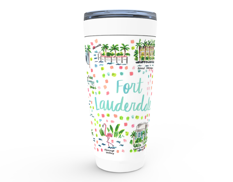 Fort Lauderdale, FL Map Tumbler