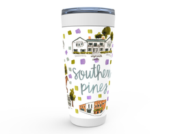 Southern Pines, NC Map Tumbler