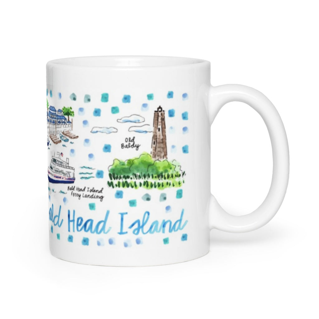 Bald Head Island, NC Map Mug