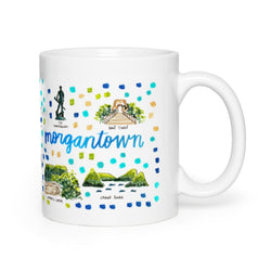 Morgantown, WV Map Mug