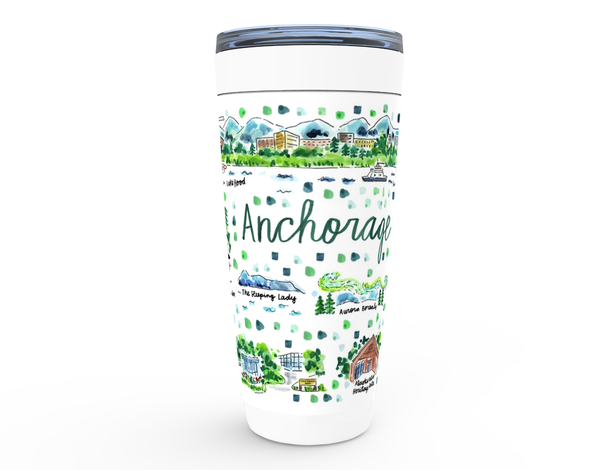 Anchorage, AK Map Tumbler