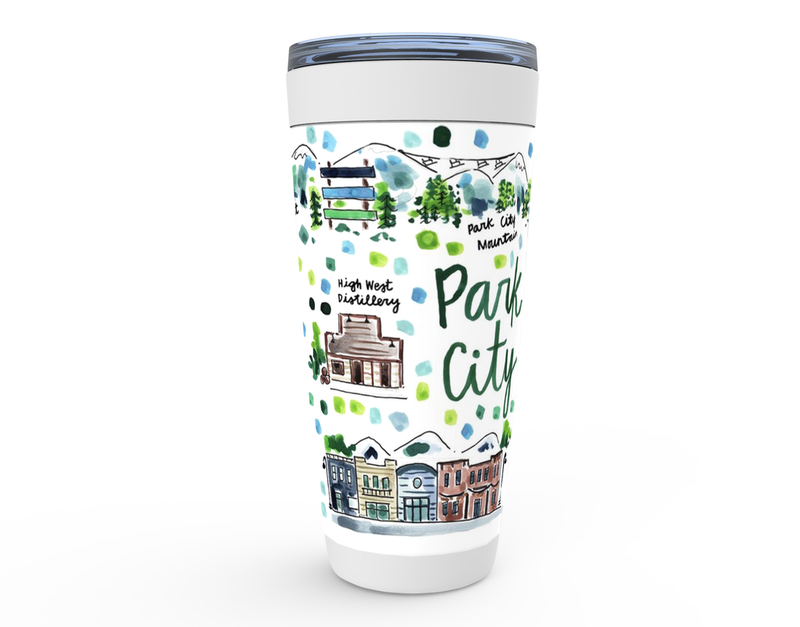 Park City, UT Map Tumbler