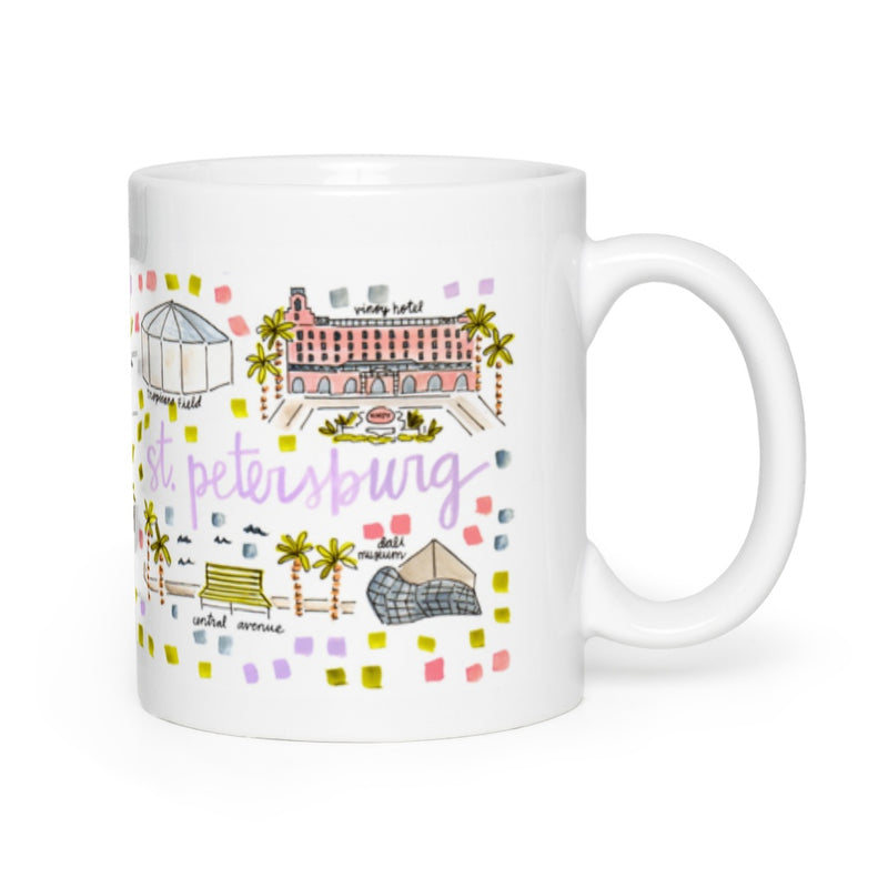 St. Petersburg, FL Map Mug