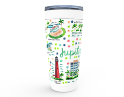 Jupiter, FL Map Tumbler