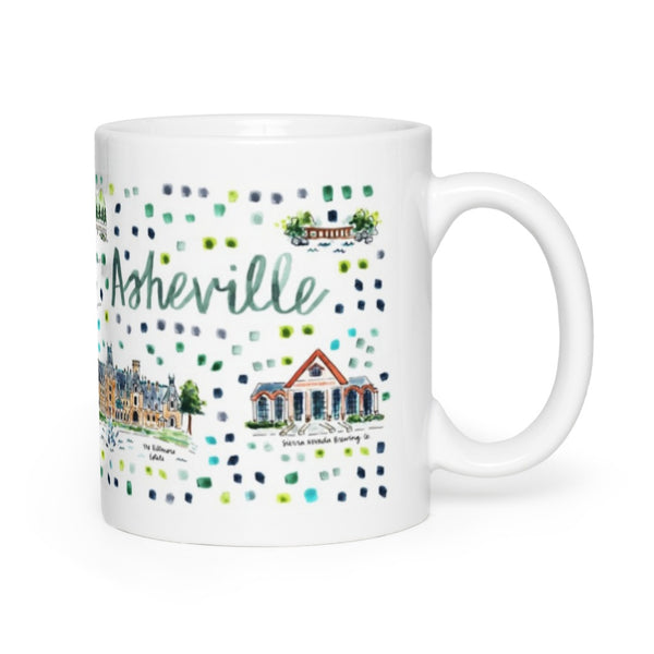 Asheville, NC Map Mug