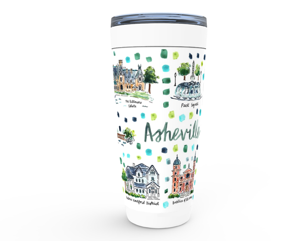 Asheville, NC Map Tumbler