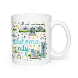 Oklahoma City, OK Map Mug