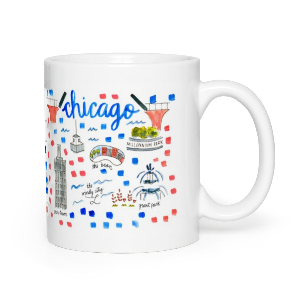 Chicago, IL Map Mug