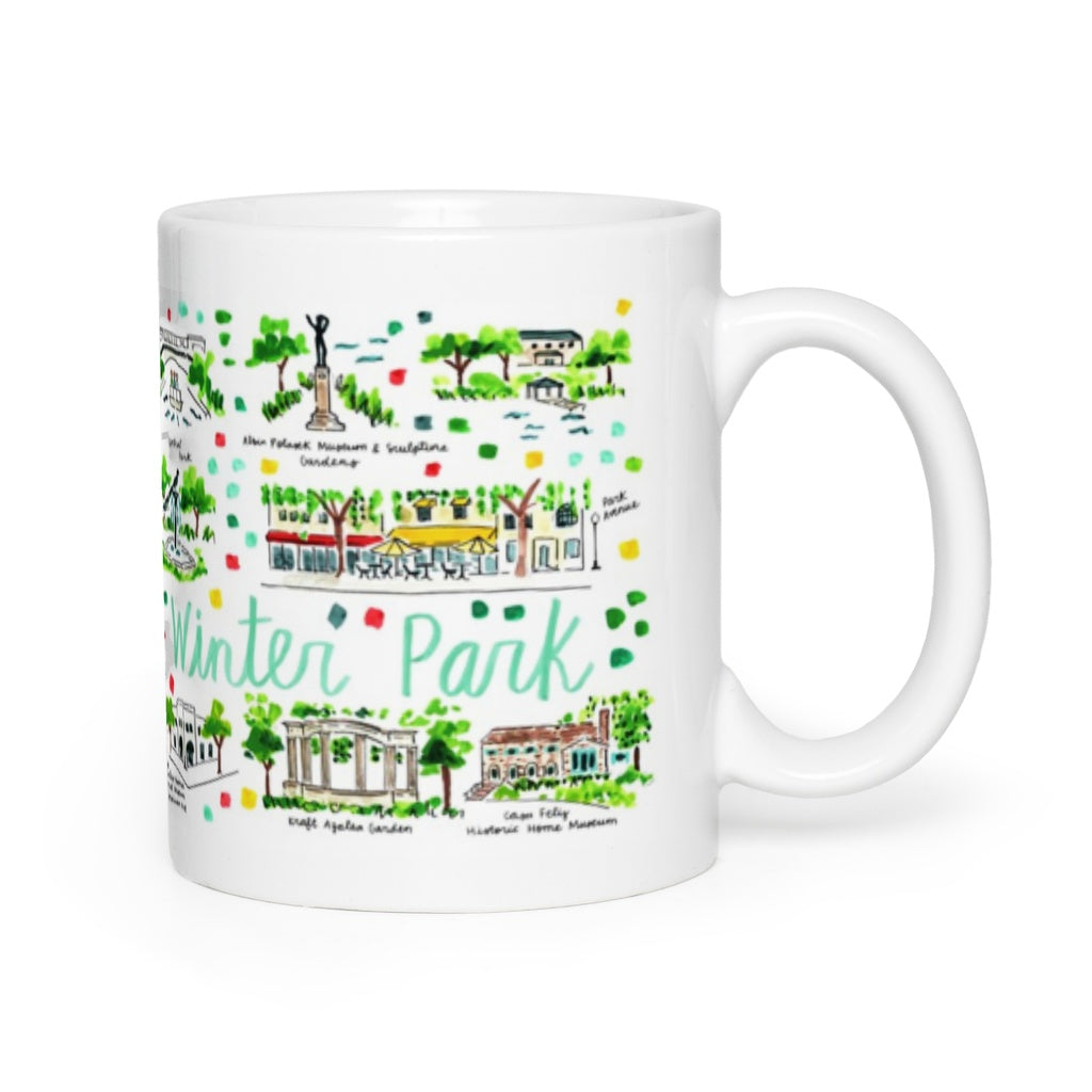 Winter Park, FL Map Mug