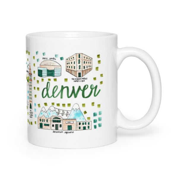 Denver, CO Map Mug
