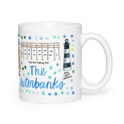 The Outer Banks, NC Map Mug