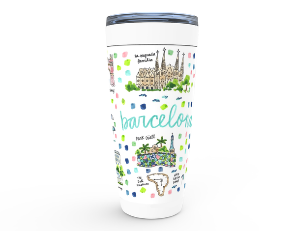 Barcelona, Spain Map Tumbler