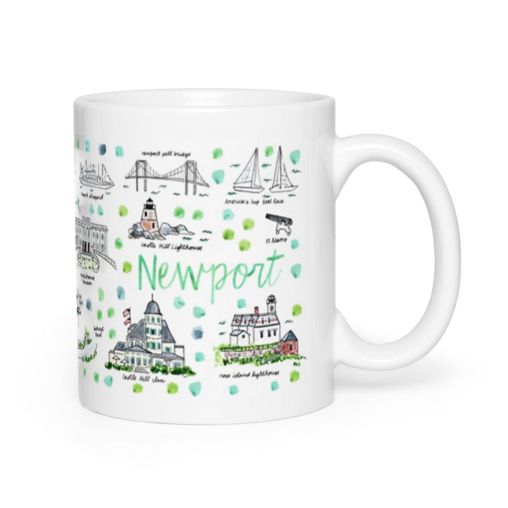 Newport, RI Map Mug