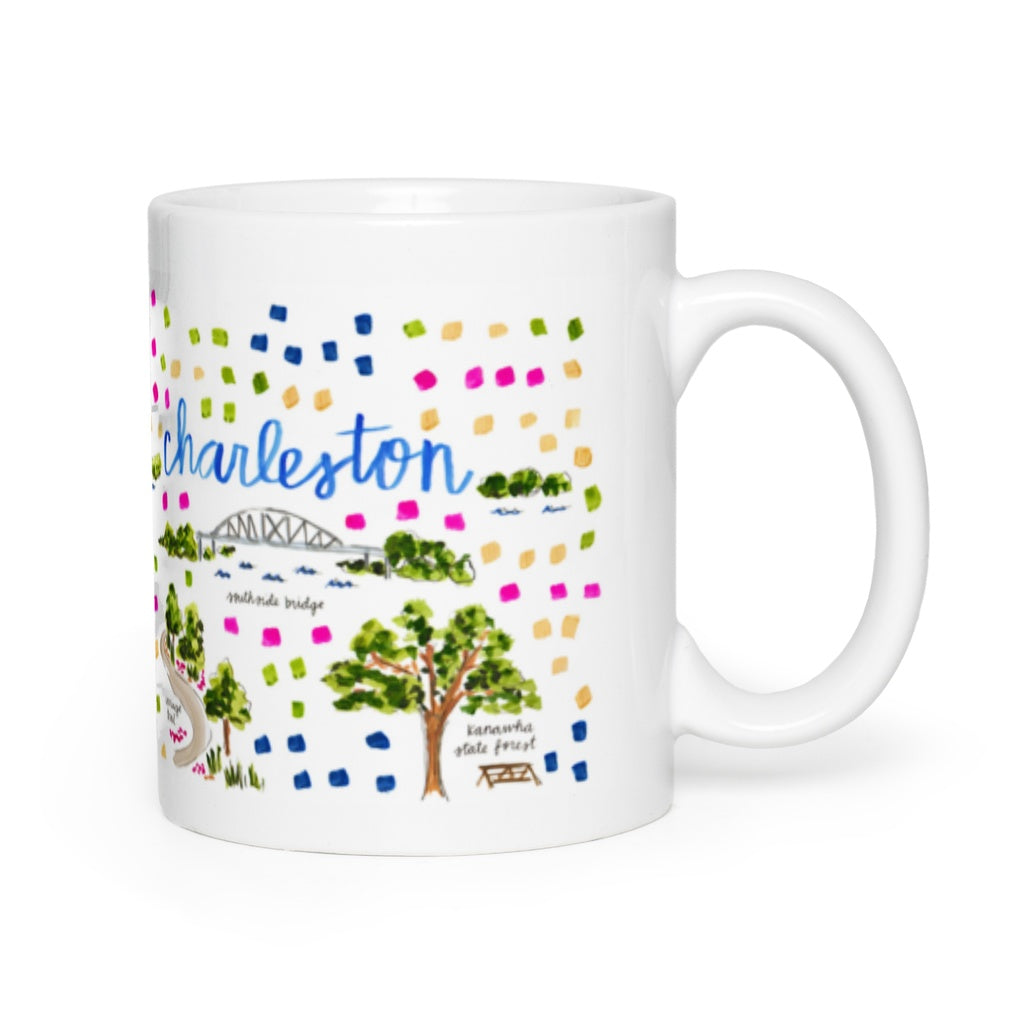 Charleston, WV Map Mug